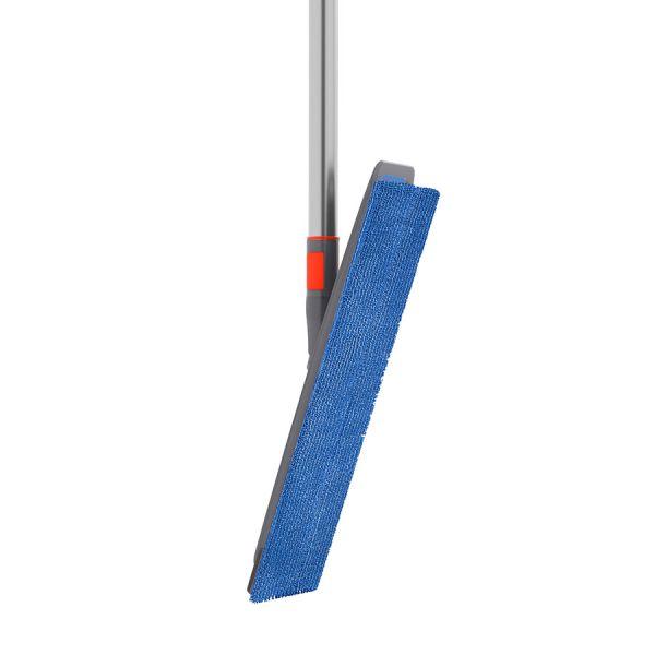 Швабра для мытья пола easy squeezer с подвижным основанием и насадкой из микрофибры 15365