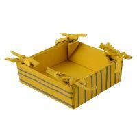 Корзинка для хлеба из хлопка горчичного цвета с принтом Полоски из коллекции prairie TK20-BB0004