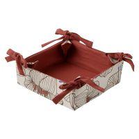 Корзинка для хлеба из хлопка терракотового цвета с принтом Цветы из коллекции prairie TK20-BB0001