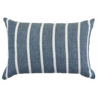 Чехол на подушку декоративный в полоску темно-синего цвета из коллекции essential, 40х60 см TK21-CC0005