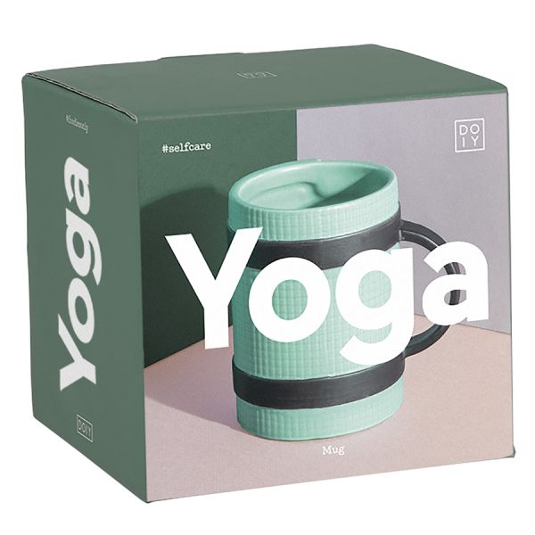Кружка yoga mug зеленая DYMUGYOGR