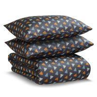 Комплект постельного белья двуспальный из сатина с принтом triangles из коллекции wild TK20-DC0020