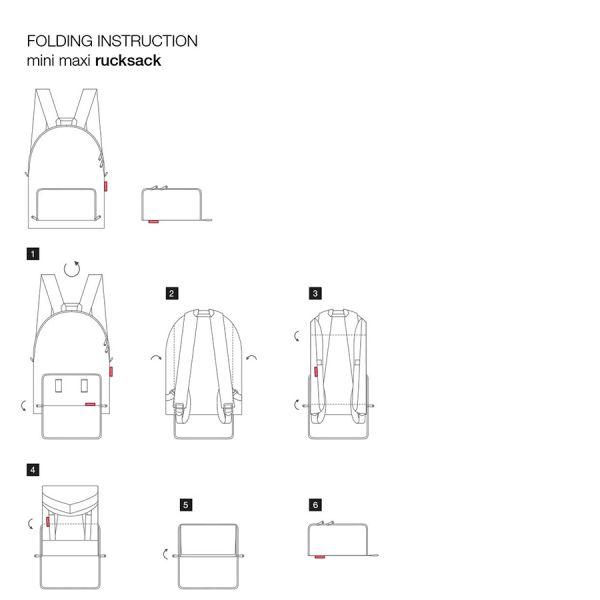 Рюкзак складной mini maxi signature black AP7054