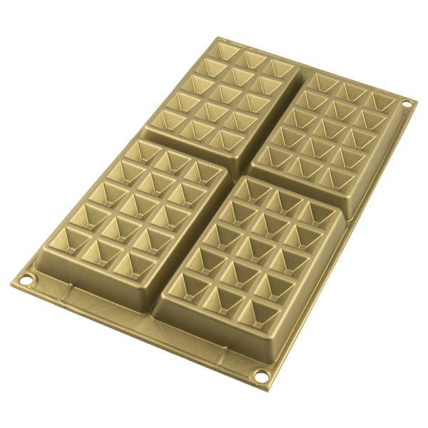 Форма для приготовления вафель waffel classic силиконовая золотая