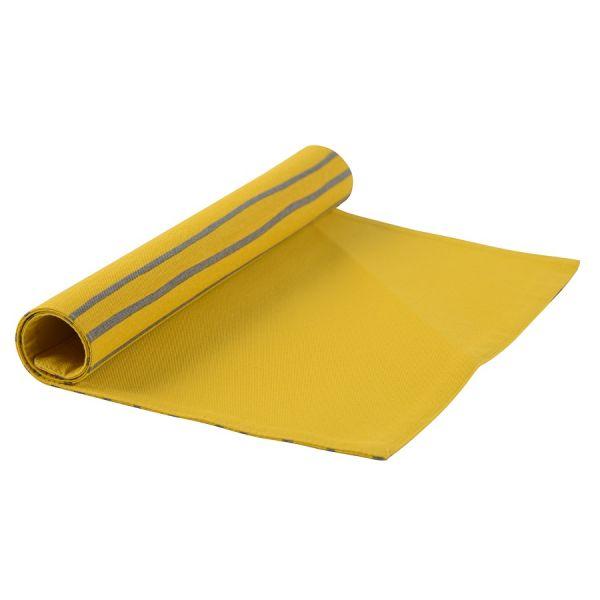 Салфетка двухсторонняя под приборы из хлопка горчичного цвета с принтом Полоски из коллекции prairie TK20-PM0004