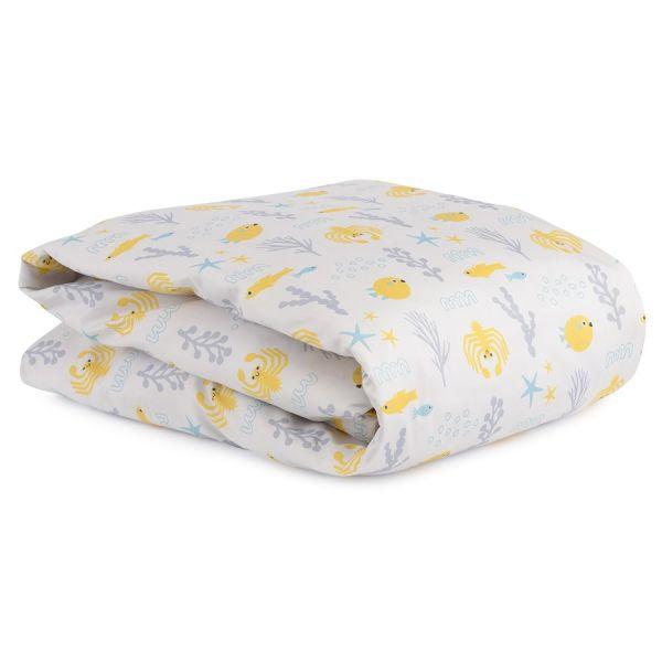 Комплект постельного белья из сатина с принтом oceania world из коллекции tiny world, 100х120 см TK20-KIDS-DC0005