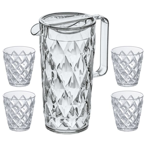 Набор из кувшина и 4 стаканов crystal 4007535