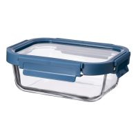 Контейнер для еды стеклянный 640 мл темно-синий ID640RC_7708C