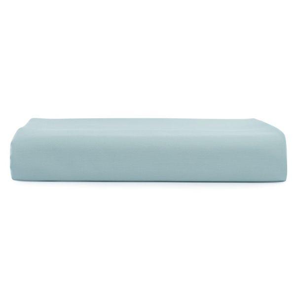 Простыня на резинке детская из сатина голубого цвета из коллекции essential, 90х200х28 см TK20-KIDS-FS0019