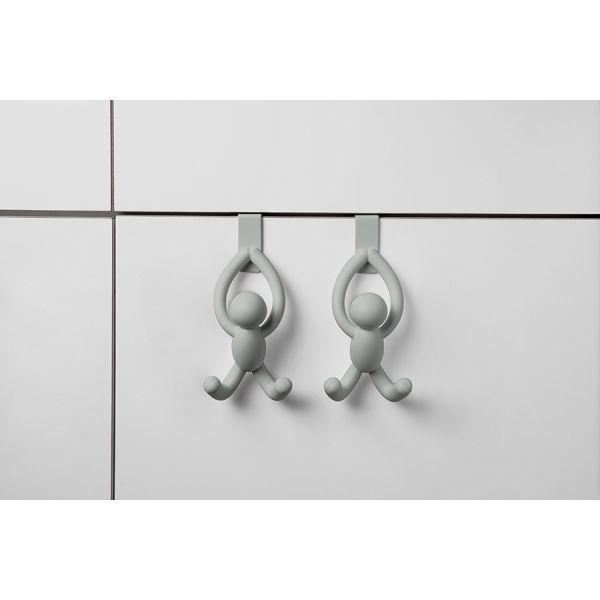 Набор из 2 надверных крючков buddy серый 1013428-918