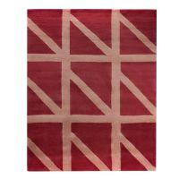 Ковер шерстяной ручной работы geometric dance бордового цвета, 160х230 см TK18-CA0003