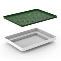 Лоток для полива растений oasis tray белый QL10309-WH-GY