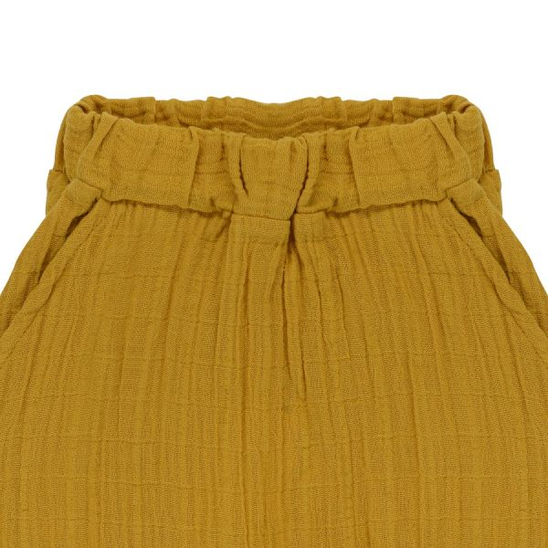 Штаны из хлопкового муслина горчичного цвета из коллекции essential 18-24m TK20-KIDS-PNT0002