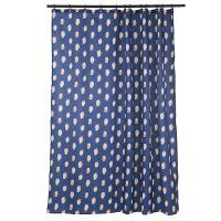 Штора для ванной темно-синего цвета с принтом sun spots  из коллекции wild TK20-SC0001