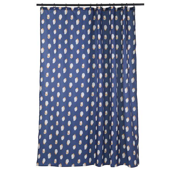Штора для ванной темно-синего цвета с принтом sun spots  из коллекции wild
