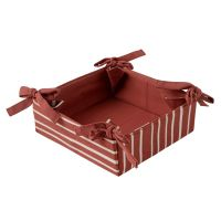 Корзинка для хлеба из хлопка терракотового цвета с принтом Полоски из коллекции prairie TK20-BB0002