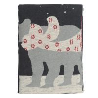 Плед из хлопка с новогодним рисунком polar bear из коллекции new year essential, 130х180 см TK20-TH0001