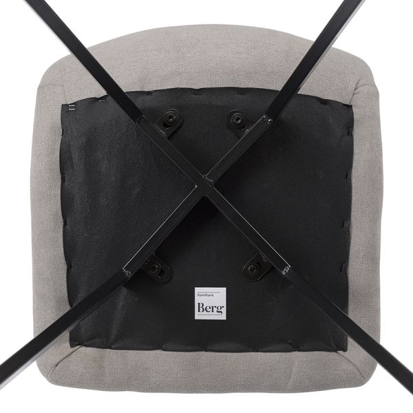 Стул berg, chili, 50х45х88 см, светло-серый BECH-CHUF86007B