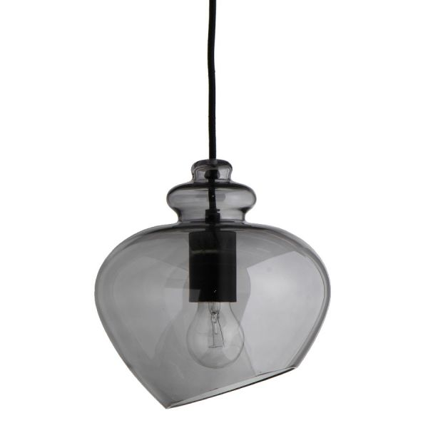 Лампа подвесная Grace, ?23 см, дымчатое стекло, черный цоколь Frandsen 1172_270505001