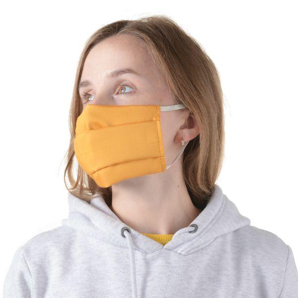 Набор из 3 защитных многоразовых масок из хлопка цвета шафрана из коллекции wild TK20-MS0001_3