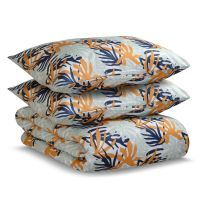 Комплект постельного белья двуспальный из сатина с принтом leaves из коллекции wild TK20-DC0022