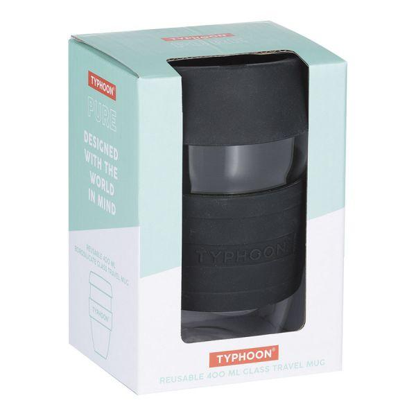 Кружка для кофе 400 мл typhoon стекло черная 1401.470V
