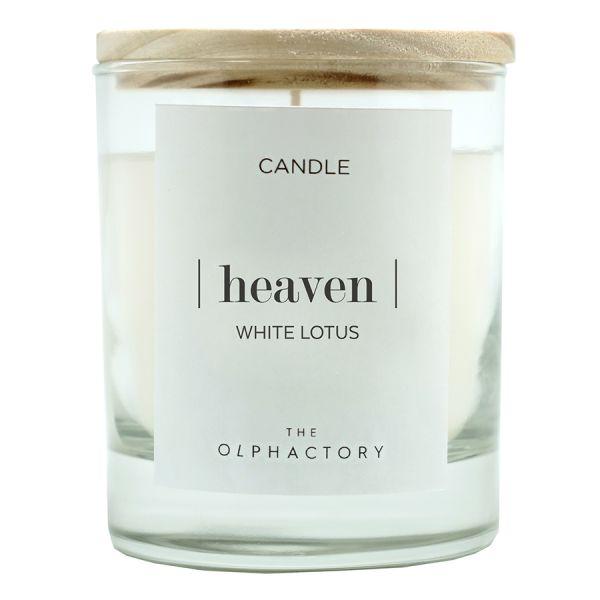 Свеча ароматическая the olphactory heaven Белый лотос 40 ч VV401WLTO