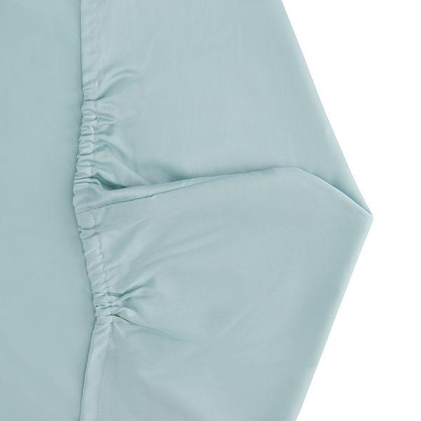 Простыня круглая на резинке из сатина голубого цвета из коллекции essential, 75х75х20 см TK20-KIDS-FS0031