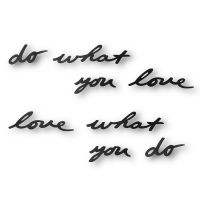 Надпись декоративная Do what you love настенная черная 470170-040