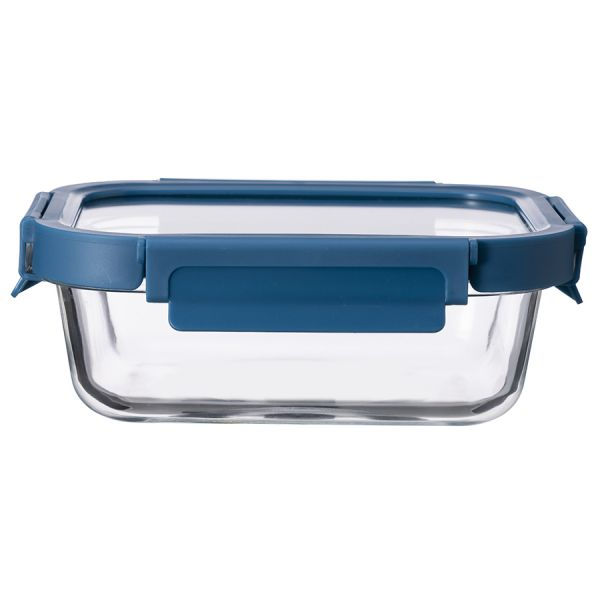 Контейнер для еды стеклянный 1050 мл темно-синий ID1050RC_7708C