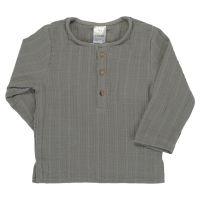 Рубашка из хлопкового муслина серого цвета из коллекции essential 24-36m TK20-KIDS-SHI0008