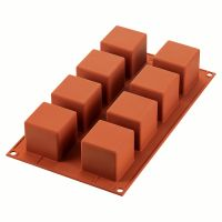 Форма для приготовления пирожных cube 5 х 5 см силиконовая