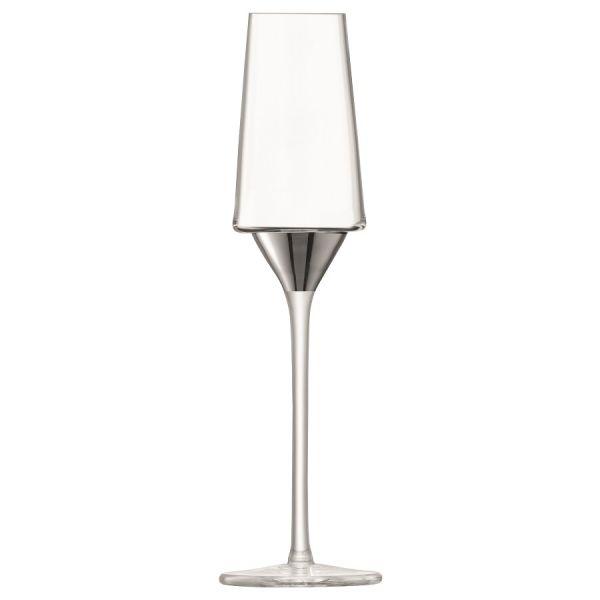 Набор из 2 бокалов-флейт для шампанского Space, 210 мл, платина G1487-08-359
