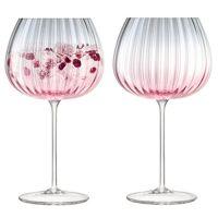 Набор из 2 круглых бокалов Dusk 650 мл розовый-серый G1443-23-152