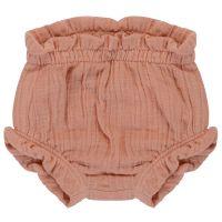 Шорты для новорожденных из хлопкового муслина цвета пыльной розы из коллекции essential 9-12m TK20-KIDS-SHB0009
