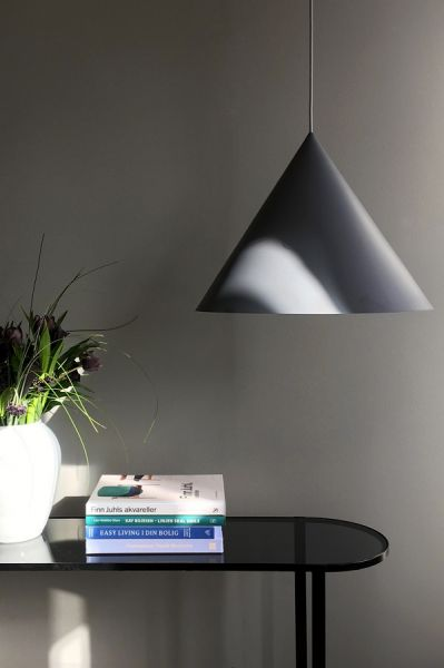 Лампа подвесная benjamin xl, серая матовая, серый шнур 1532276001