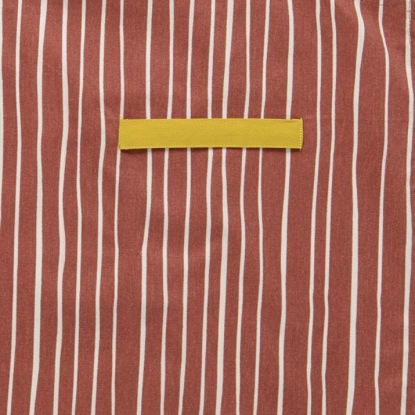 Фартук из хлопка терракотового цвета с принтом Полоски из коллекции prairie