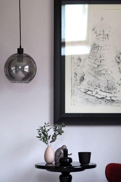 Лампа подвесная Kyoto Round, серая Frandsen 1528_26505001