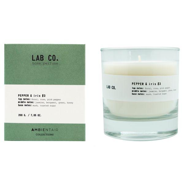 Свеча ароматическая lab co Розовый перец и ирис 40 ч VV040AQLB