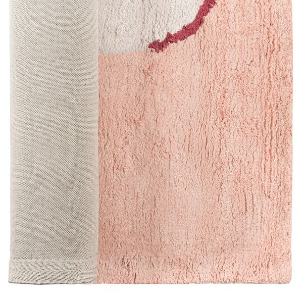Ковер из хлопка бежевого цвета с авторским принтом из коллекции freak fruit, 120х180 см TK20-DR0026