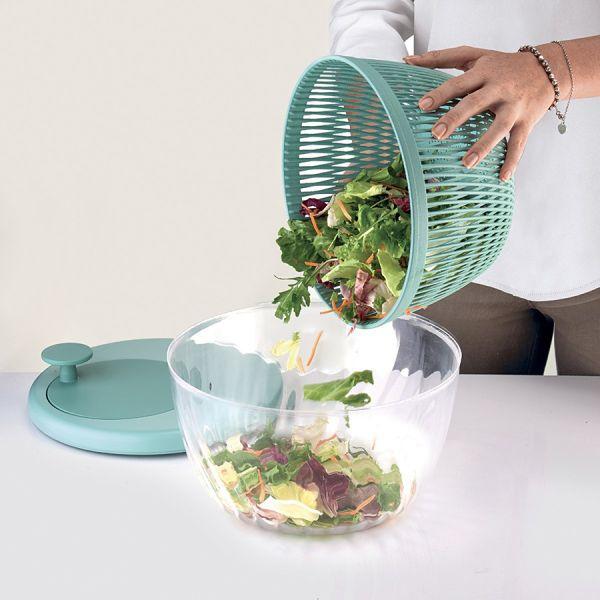 Сушилка для салата twist&dry зеленая
