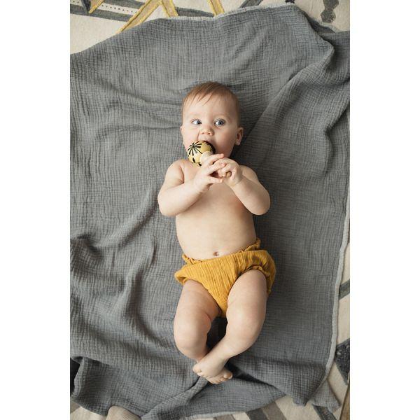 Шорты для новорожденных из хлопкового муслина горчичного цвета из коллекции essential 9-12m TK20-KIDS-SHB0003