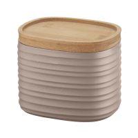 Емкость для хранения с бамбуковой крышкой tierra 500 мл бежево-розовая 181801158