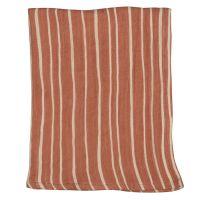 Полотенце кухонное из хлопкового муслина терракотового цвета с принтом Полоски из коллекции prairie TK20-TT0009