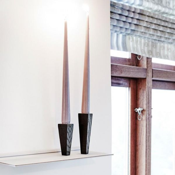 Подсвечники магнитные LINDDNA для высоких свечей 3x9 см, 3x12 см 2 шт черный дуб 982910