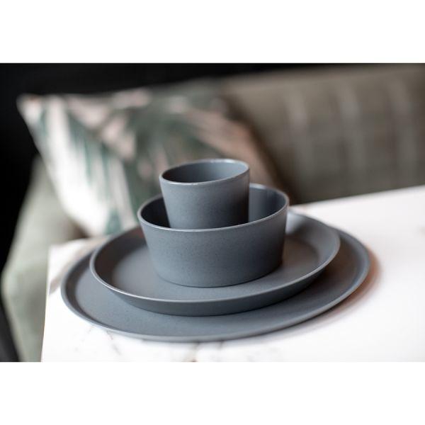 Тарелка connect organic d 20,5 см темно-серая