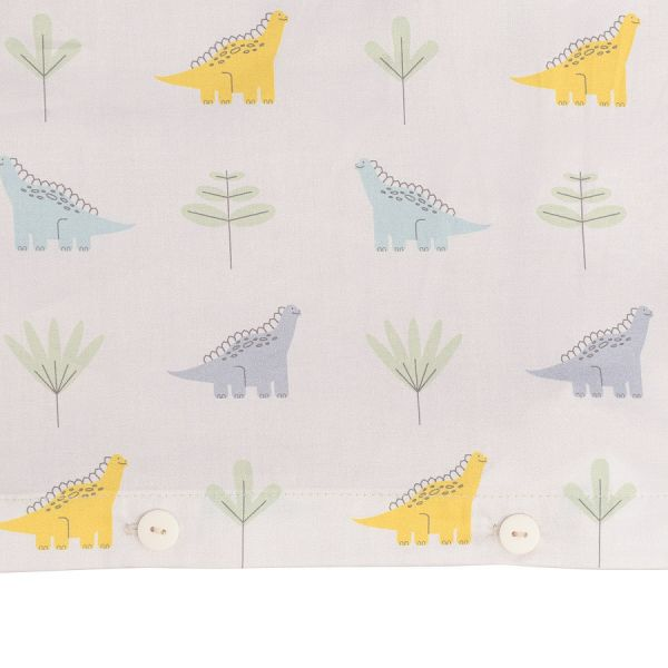 Комплект постельного белья из сатина с принтом dinosauria world из коллекции tiny world, 110х140 см TK20-KIDS-DC0012