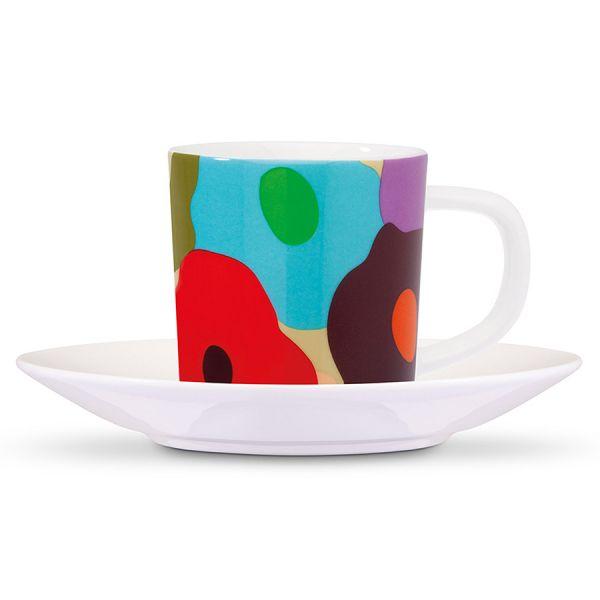 Чашка для эспрессо с блюдцем remember, fiori, 75 мл EM17