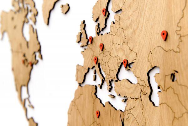 Карта-пазл wall decoration exclusive, 180х108 см, европейский дуб