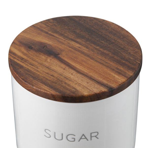 Контейнер для хранения сахара 0,6 л с деревянной крышкой